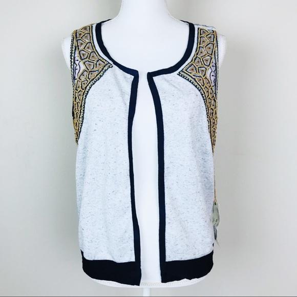 BKE Jackets & Blazers - Gimmicks by BKE Buckle Beaded Tribal Print Vest